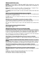 Minutes Annual Town Council Meeting 15th May 2019